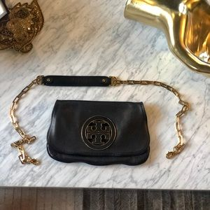 Tory Burch Convertible Clutch to Tote, minor wear